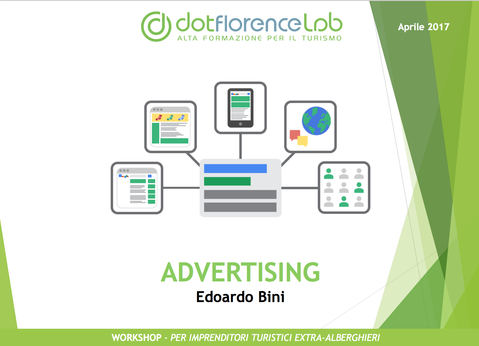 Dotflorence Lab 27 Settembre 2017 - Advertising strategies
